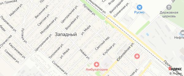 Улица Сельских Строителей на карте Западного поселка с номерами домов
