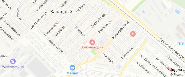 Клубная улица на карте Майкопа с номерами домов