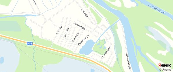 СТ Лисьи борки на карте Приморского района с номерами домов