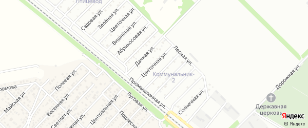 Цветочная улица на карте садового некоммерческого товарищества Сада с номерами домов