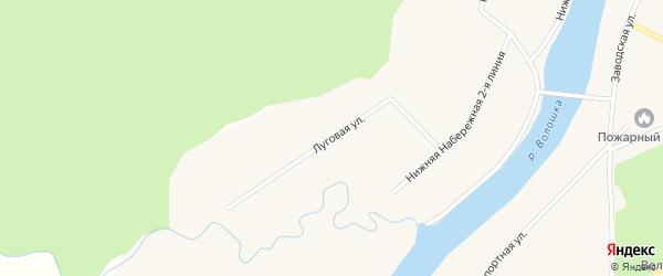 Луговая улица на карте поселка Волошки с номерами домов