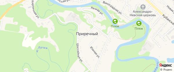 Загородняя улица на карте садового некоммерческого товарищества Приречного с номерами домов