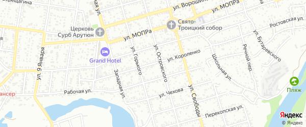 Улица Короленко на карте Майкопа с номерами домов