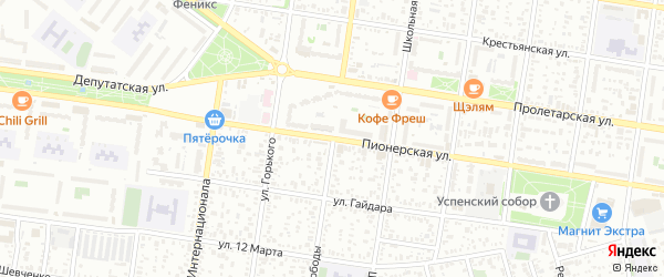 Улица Свободы на карте Северного поселка с номерами домов