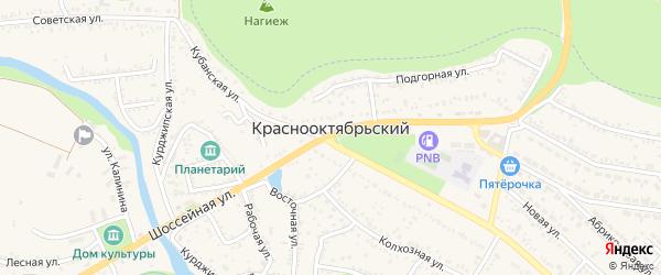 Горный переулок на карте Краснооктябрьского поселка с номерами домов