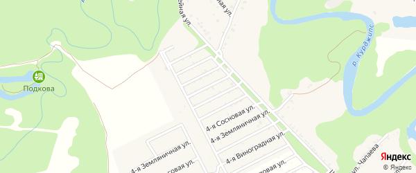 Клубничная 4-я улица на карте Табачного поселка с номерами домов