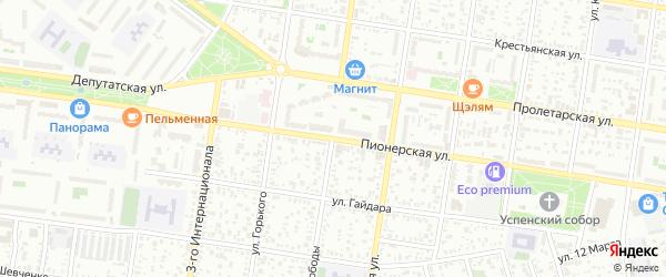 Улица Свободы на карте садового некоммерческого товарищества Эры с номерами домов