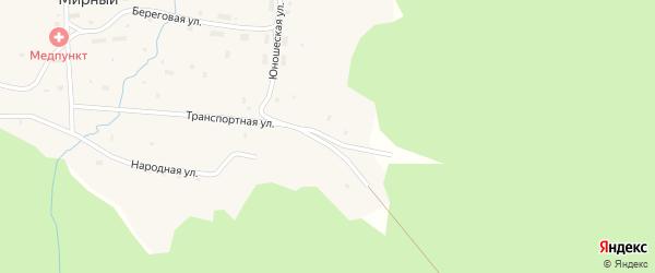 Транспортная улица на карте Мирного поселка с номерами домов