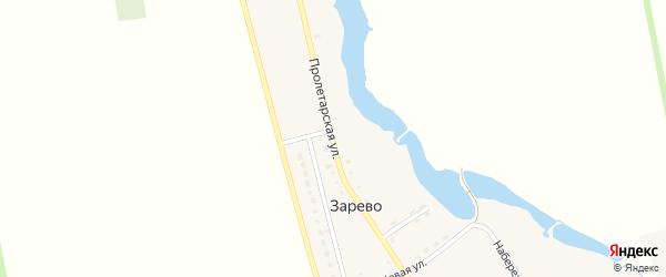 Пролетарская улица на карте поселка Зарево с номерами домов