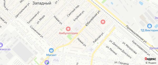 Юбилейная улица на карте Майкопа с номерами домов