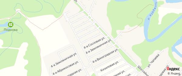 Малиновая 4-я улица на карте Табачного поселка с номерами домов