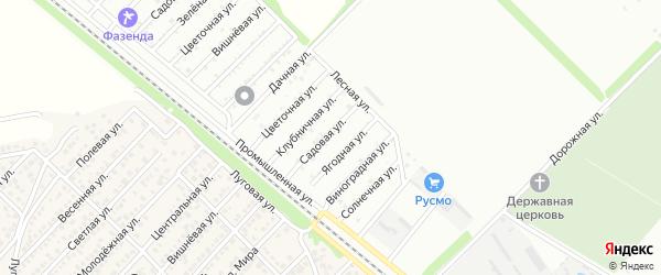 Ореховая улица на карте поселка ДНТ Коммунальника с номерами домов