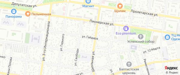 Улица А.Ахматовой на карте Майкопа с номерами домов
