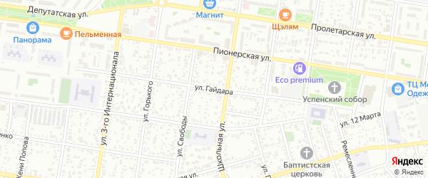 Улица Гайдара на карте Майкопа с номерами домов