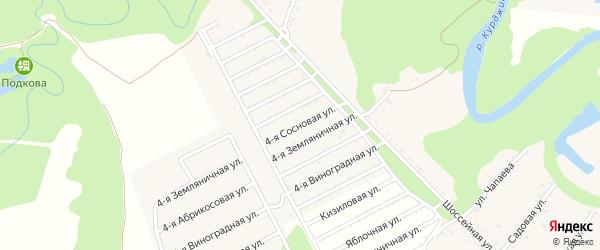 Сосновая 4-я улица на карте Табачного поселка с номерами домов