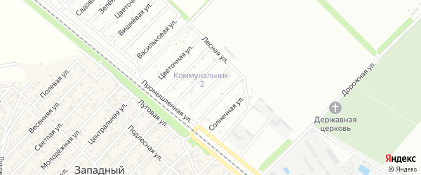 Ягодная улица на карте садового некоммерческого товарищества Коммунальника 2 с номерами домов