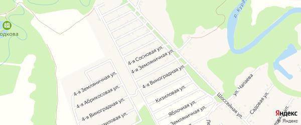 Земляничная 4-я улица на карте Табачного поселка с номерами домов