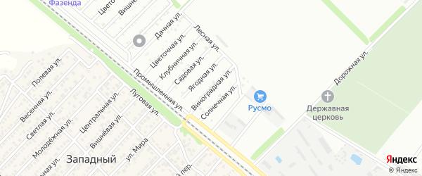 Виноградная улица на карте садового некоммерческого товарищества Коммунальника 2 с номерами домов