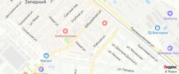 Улица Дружбы на карте Западного поселка с номерами домов