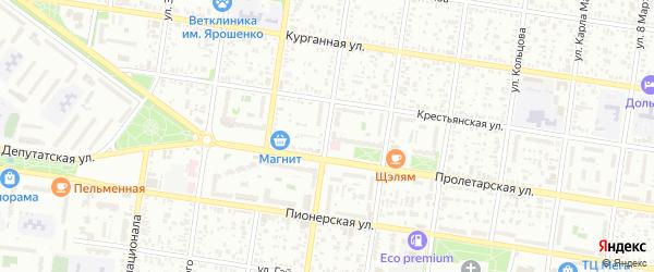Школьная улица на карте Майкопа с номерами домов