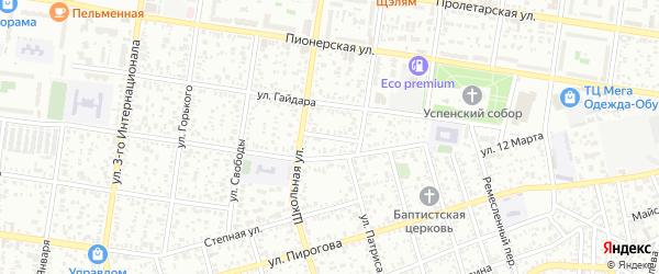 Переулок 12 Марта на карте Майкопа с номерами домов