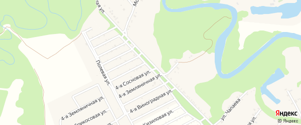 Шоссейная улица на карте Краснооктябрьского поселка с номерами домов