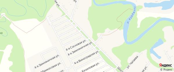 Шоссейная улица на карте Приречного поселка с номерами домов