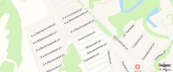 Кизиловая улица на карте садового некоммерческого товарищества Лесная Поляна с номерами домов