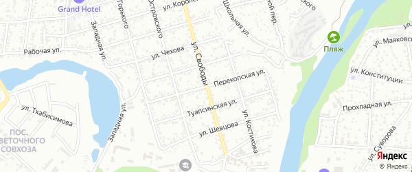 Перекопская улица на карте Майкопа с номерами домов
