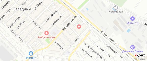 Совхозная улица на карте Западного поселка с номерами домов