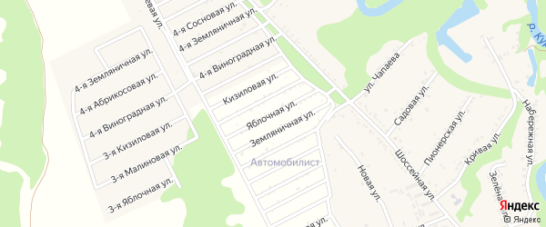 Яблочная улица на карте садового некоммерческого товарищества Радуги с номерами домов