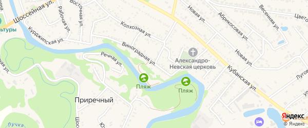 Молодежная улица на карте Краснооктябрьского поселка с номерами домов