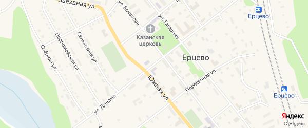Улица Динамо на карте поселка Ерцево с номерами домов