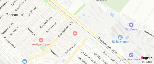 Восточный переулок на карте Западного поселка с номерами домов