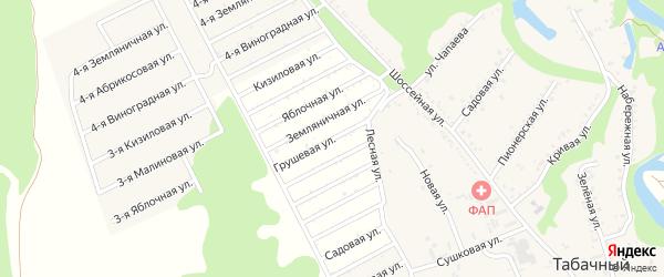 Грушевая улица на карте садового некоммерческого товарищества Малиновки с номерами домов