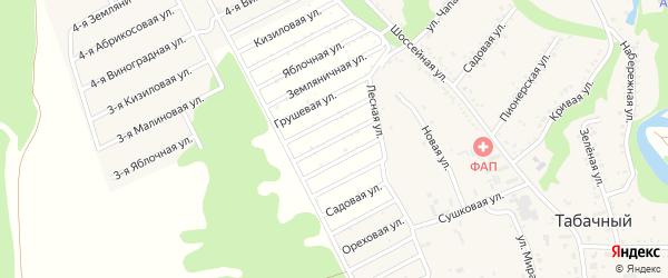 Вишневая улица на карте садового некоммерческого товарищества Ягодки с номерами домов