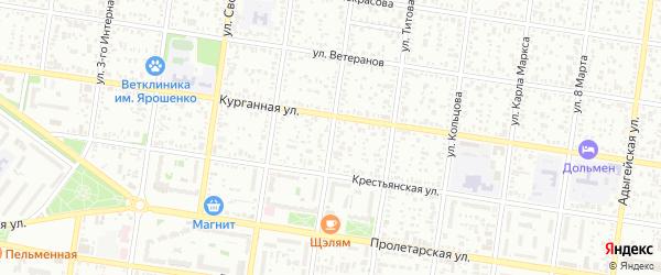 Улица Патриса Лумумбы на карте Майкопа с номерами домов