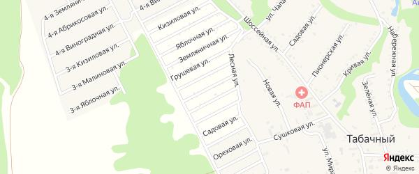 Вишневая улица на карте Табачного поселка с номерами домов