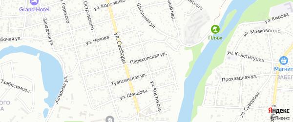Улица Костикова на карте Майкопа с номерами домов