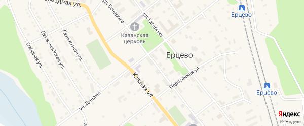 Улица Бочарова на карте поселка Ерцево с номерами домов