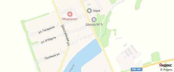 Набережная улица на карте поселка Зарево с номерами домов