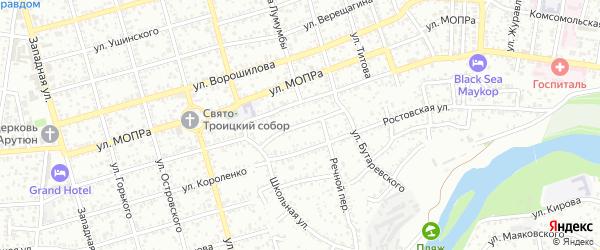 Обрывная улица на карте садового некоммерческого товарищества Зари с номерами домов