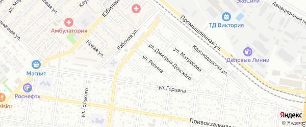 Улица Репина на карте Майкопа с номерами домов