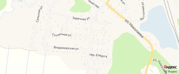 Юбилейная улица на карте поселка Ерцево с номерами домов