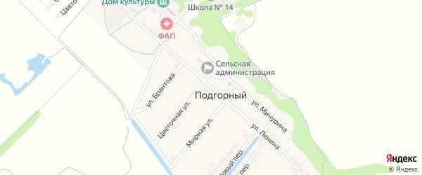 Улица Ленина на карте Подгорного поселка с номерами домов