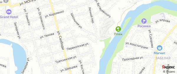 Кустарный переулок на карте Майкопа с номерами домов
