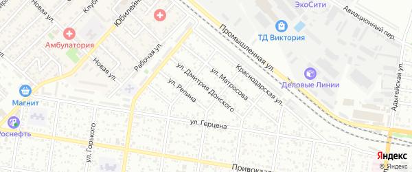 Улица Д.Донского на карте Майкопа с номерами домов