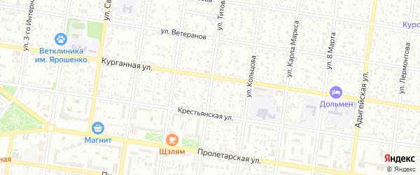 Улица Титова на карте Майкопа с номерами домов