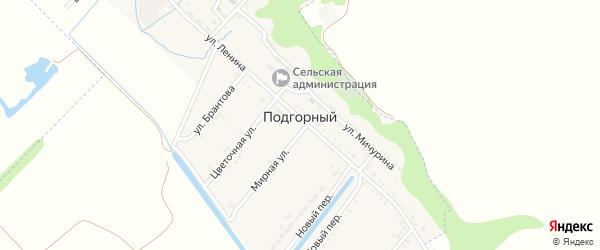 Школьный переулок на карте Подгорного поселка с номерами домов