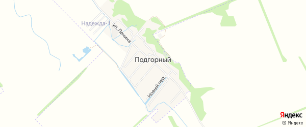 Карта Подгорного поселка города Майкопа в Адыгее с улицами и номерами домов